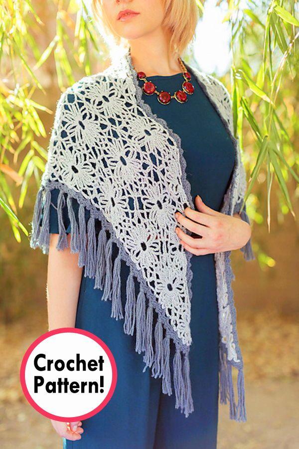 Bohemian shawl Crochet pattern, crochet shawl Pattern, shawl Crochet ...