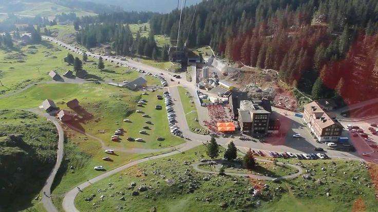 The aerial tramway Luftseilbahn Schwägalp-Säntis is one of the most frequented tramways in Switzerland. http://youtu.be/ccYYPWZ6SMk