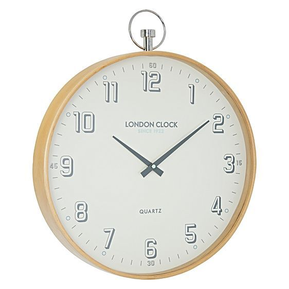 Outline a handsome, Scandinavian style in your space with the smart timbered tones of the Attic Wall Clock, 41cm from London Clock Company.