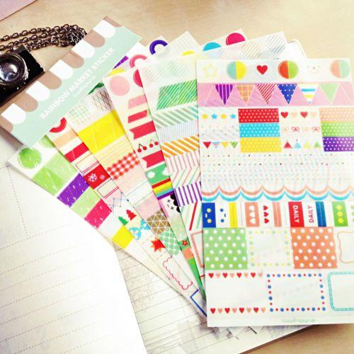 6pcs-Transparent-Calendar-Scrapbook-Diary-Book-Decor-Paper-Planner-Sticker-HOT