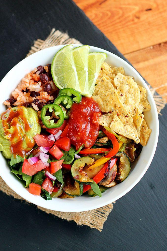 {New!} Grilled Veggie Taco Bowl on ilovevegan.com
