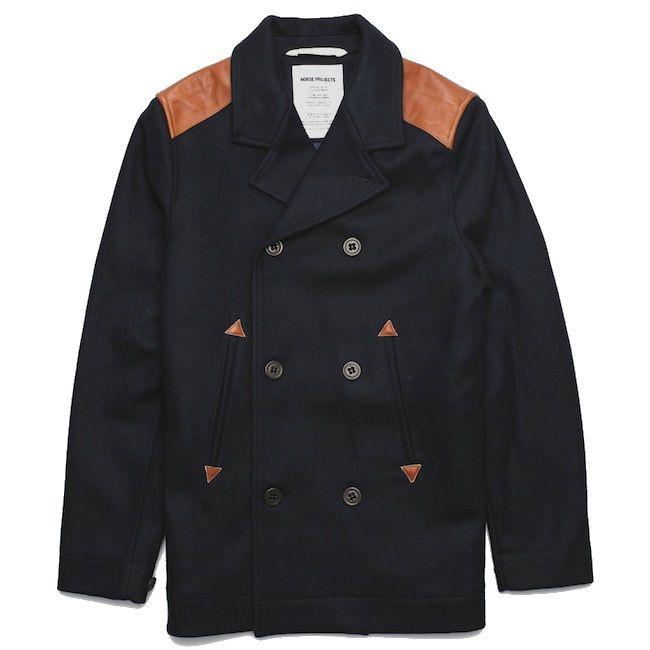 Norse Projects Birk Sailor Jacket Pea Coat.