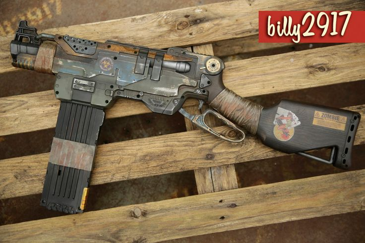 nerf slingfire zombie custom by billy2917.deviantart.com on @DeviantArt