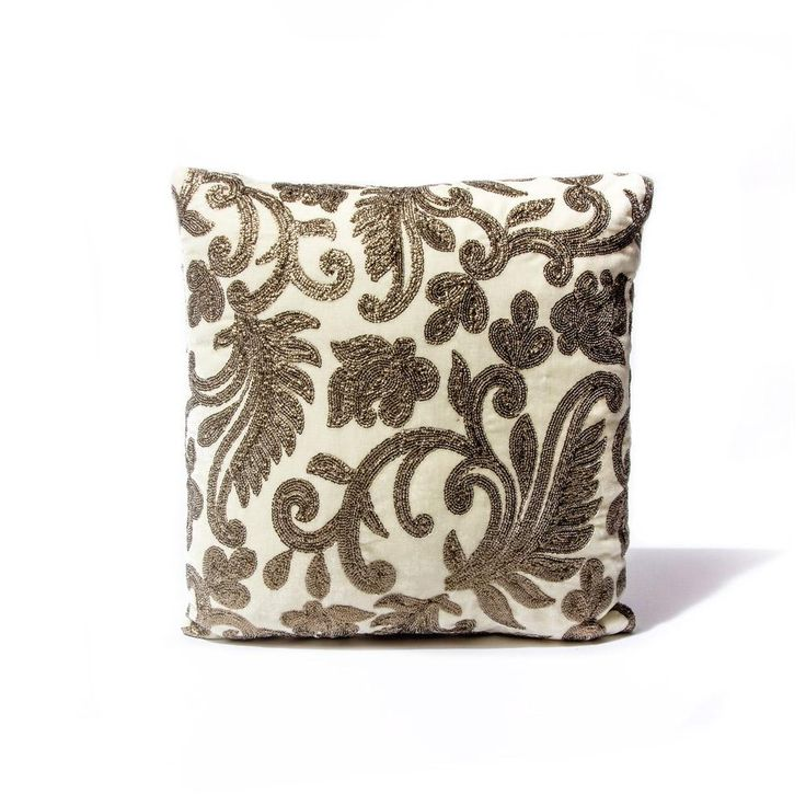 Ivory Royal Bloom Pillow