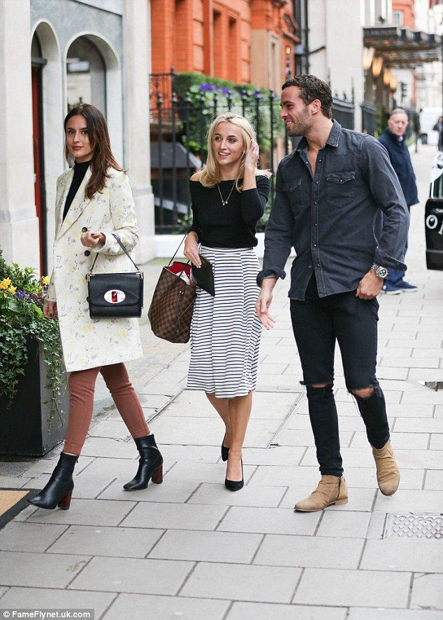 Family day out: Yet another gaggle of Made In Chelsea stars arrived in the form of Lucy Wa...