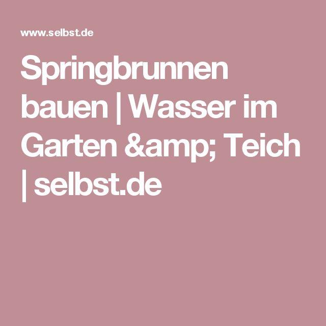 1000+ идей на тему Springbrunnen Selber Bauen в Pinterest - steinbrunnen selber bauen anleitung