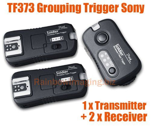 RainbowImaging Soldier TF-373 Wireless Grouping Flash Trigger Control for Sony Cameras & flashes (1 Transmitter + 2 Receivers) | Studio lighting