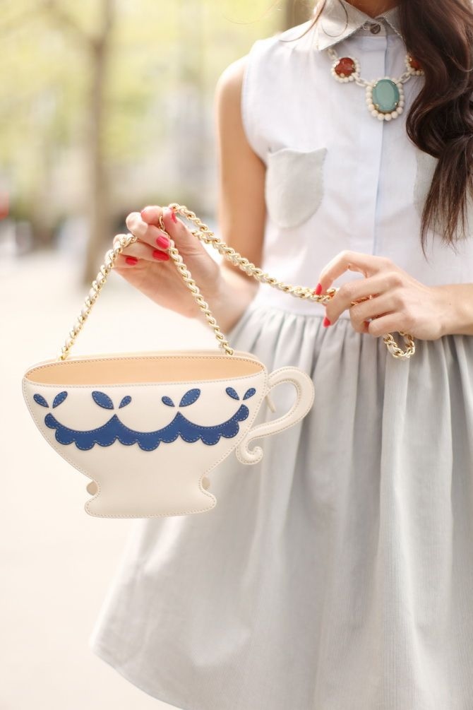 ♔ Tea Cup purse! So charming!