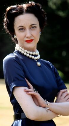 Andrea Riseborough plays Wallis Simpson in the film W.E. which is out next Friday