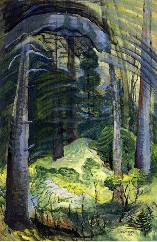 Summer, Mount Douglas, No. 12, 1942, Emily Carr, oil on paper, laid down on panel, 36 x 24 in., Victoria, BC, Canada