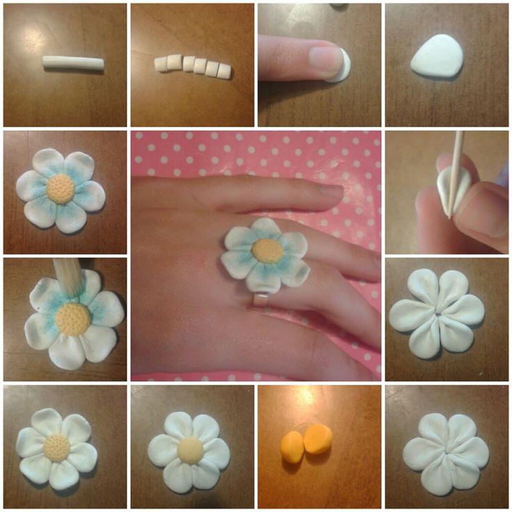 diy fleur de daisy fimo p te fimo pinterest fimo fleur et p tes. Black Bedroom Furniture Sets. Home Design Ideas