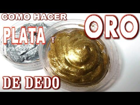 COMO HACER PÁTINA DE DEDO DORADA Y PLATA - HOW TO MAKE GOLD AND SILVER P...