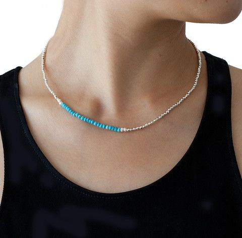 CATHERINE WEITZMAN Turquoise and Silver Necklace – KAVUT
