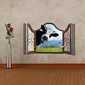 3D The Cow  Wall Stickers Wall Decals  – AUD $ 21.75