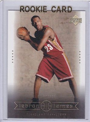 cool LeBron James NBA RC 2003 Draft Pick ROOKIE CARD Cleveland Cavaliers Basketball - For Sale View more at http://shipperscentral.com/wp/product/lebron-james-nba-rc-2003-draft-pick-rookie-card-cleveland-cavaliers-basketball-for-sale-2/