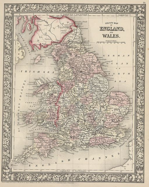 Map of England and Wales - 1866   Flickr - Photo Sharing!
