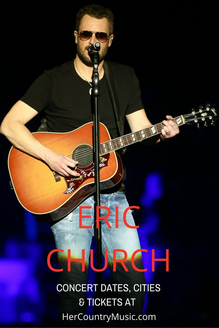 Get the latest Eric Church tour dates, cities, tickets and other concert news. You'll also find some of our fave Eric Church quotes and lyrics… and little known facts.