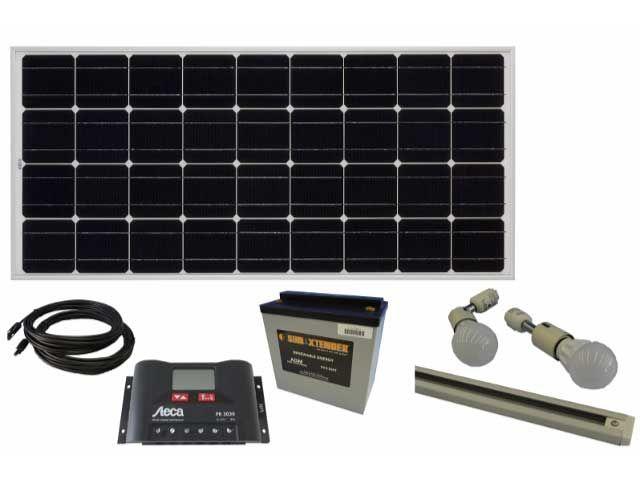 ライティングレール照明セット/直流家電ソーラーシステムセット/オフグリッドソーラー