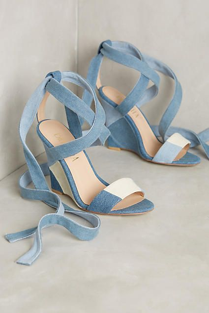 Billy Ella Parry Wedges - anthropologie.com