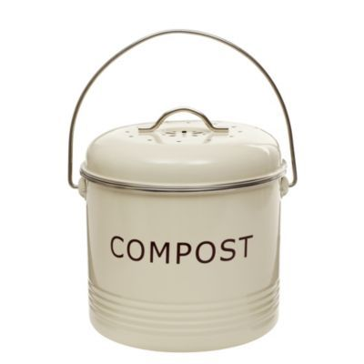 Komposteimer, cremefarben