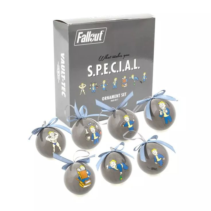 Fallout SPECIAL Perks Ornament 7 Pack Set