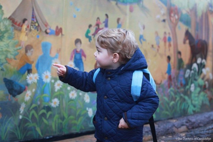 Prince George's First Day at Nursery, photos taken by his mum, the Duchess of Cambridge. January 6, 2016.