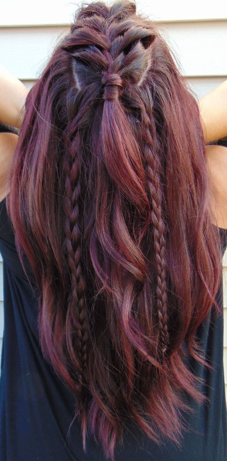 I love this violet red tone that I did on my hair from Paul Mitchell! 5VR! The braids were also a fun touch! COME SEE MORE OF MY WORK HERE!  http://www.youtube.com/sameethehairstylist http://www.instagram.com/sameeschaapstyling