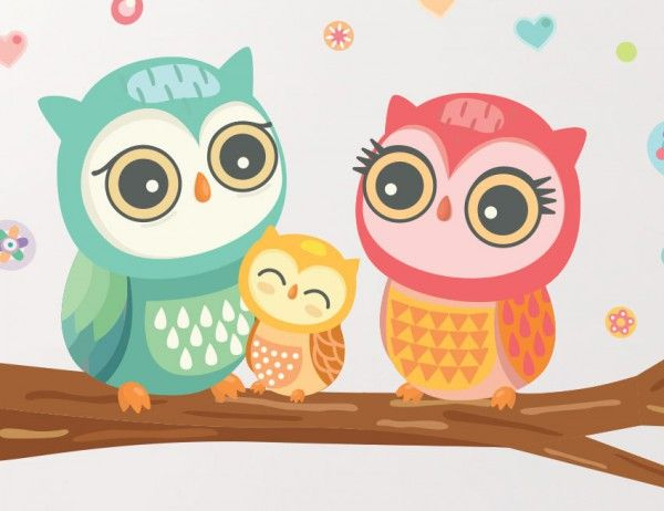 Buy these gorgeous owl wall stickers for your little girls room