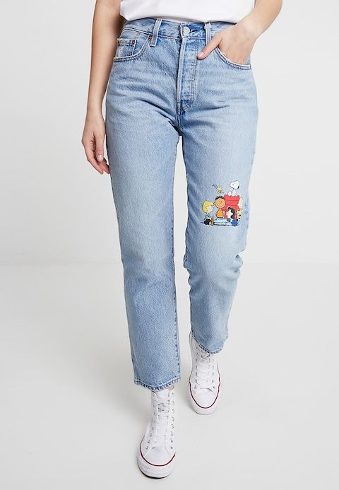 627e402fbe719 501 CROP - Jeans Tapered Fit - peanuts snoopy woodstock @ Zalando.co ...