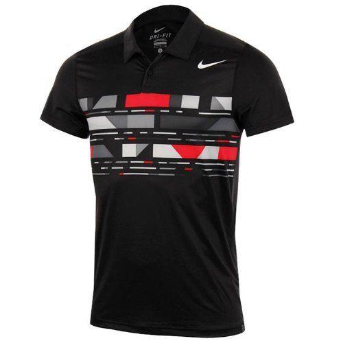 Nike Dri-Fit Advantage Tread Mens Tennis Short Sleeve Polo