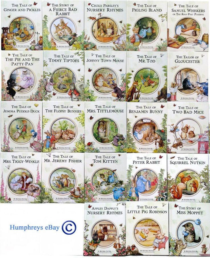 23 Beatrix Potter Books Collection. Beatrix Potter books were my favorites growing up. I read, re-read, re-read and re-read again.