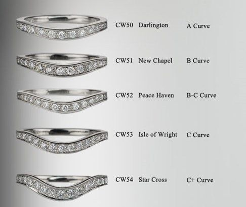 Curved Diamond Wedding Bands From The London Royal Collection Allow Band To Fit Perfectly With