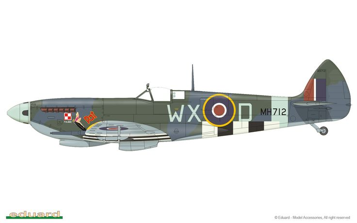 Spitfire LFMk.IXc, MH712, flown by W/O Henryk Dygala, No. 302 Squadron, Summer / Autumn, 1944
