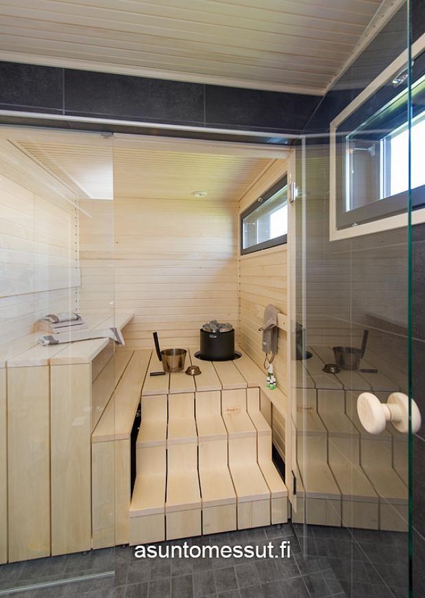 In die Liege eingebaut werden kann das Heizgerät Cilindro http://www.wellness-stock.de/Saunaofen-Cilindro-Steuerung Lapplin Lumo - Sauna   Asuntomessut