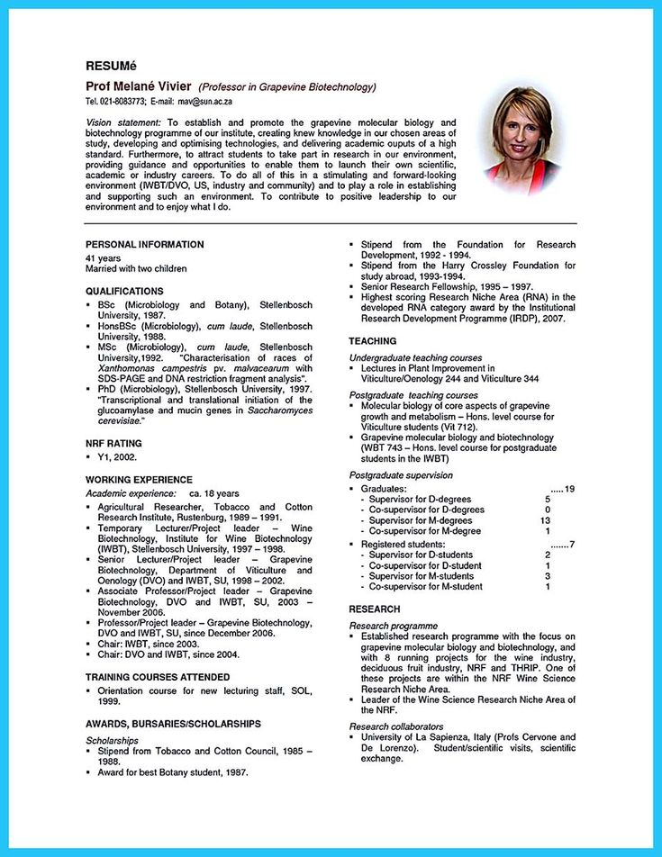 nice Sophisticated Job for This Unbeatable Biotech Resume,