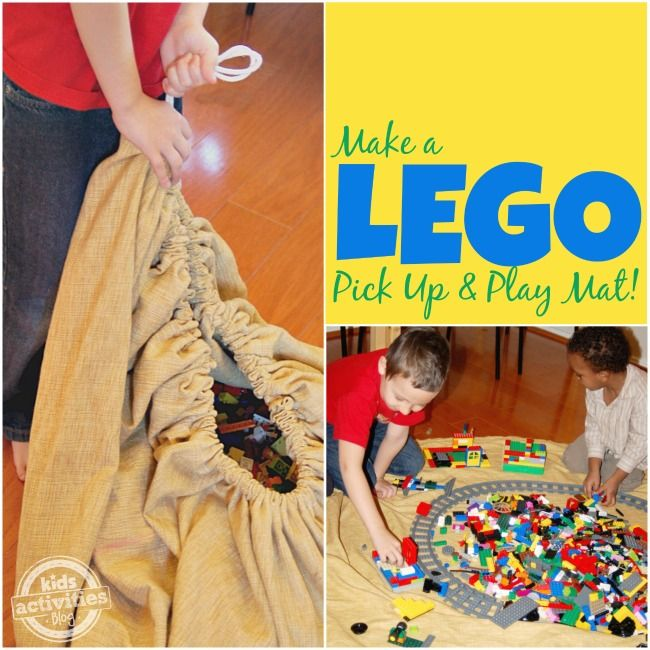 DIY LEGO Storage Pick Up and Play Mat
