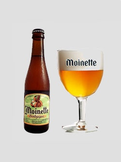 Moinette biologique, Brasserie Dupont, 7.5% 6/10 is a top fermentation, blond beer with refermentation in the bottle. Somewhat (too) bitter.