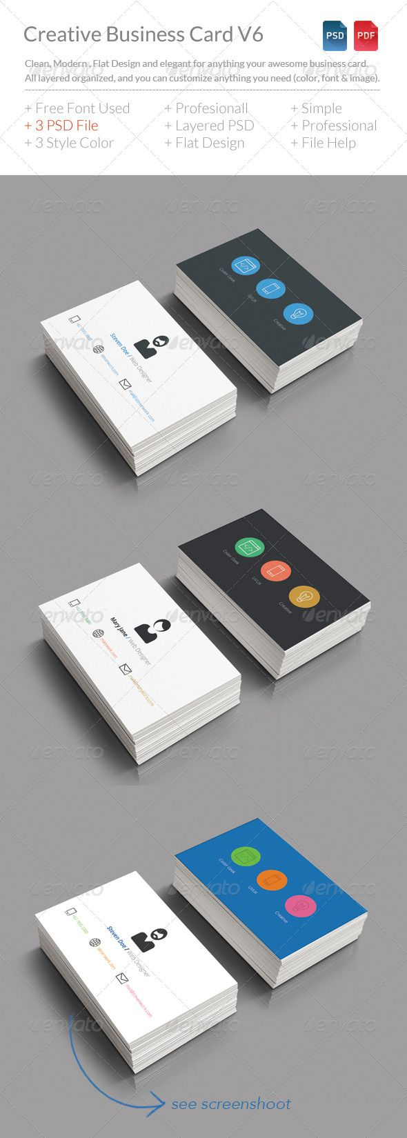Creative Business Card V6  download in here http://graphicriver.net/item/creative-business-card-v6/8207243?WT.ac=category_thumb&WT.z_author=BdgPixel