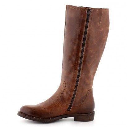 Bottes Cuir marron pour Femme : Bottes Sirmione - 87,00€