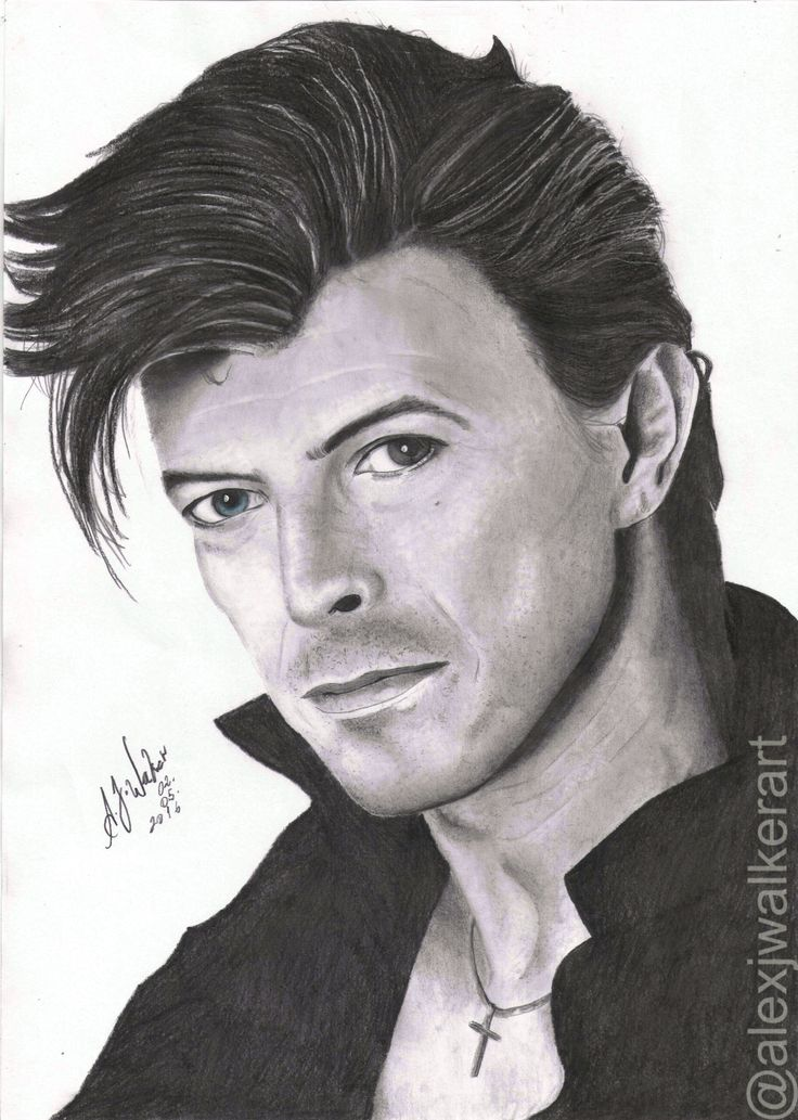 David Bowie By: A.J Walker Also on Instagram:  www.instagram.com/alexjwalkerart/