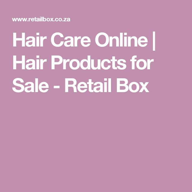 Hair Care Online | Hair Products for Sale - Retail Box