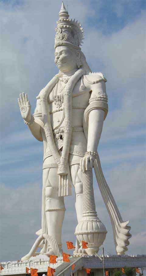 World's largest Hanuman statue located at Parital, Andhra Pradesh