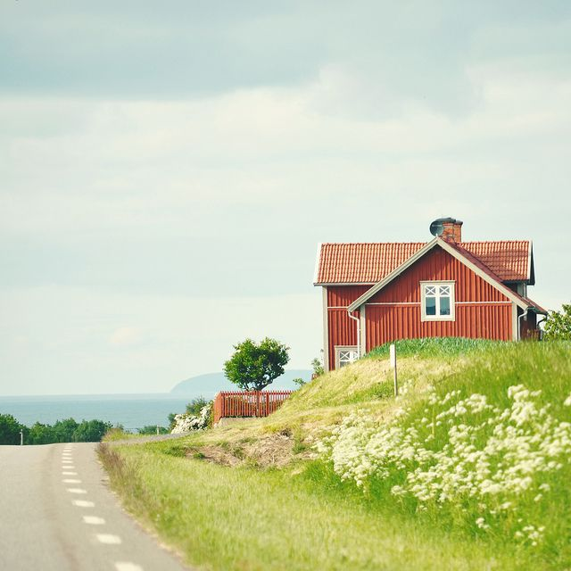 a house by the road, Gränna, Sweden