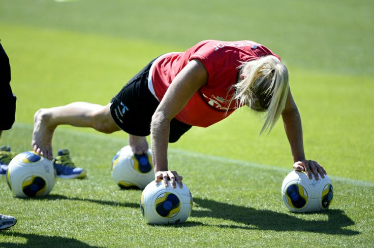 Ada Hegerberg training hard with the Norwegian National Team