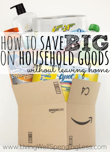 Want to know how to save big on things like toilet paper, paper towels, laundry detergent, and even diapers?  Don't miss this post for great tips  tricks on saving big on household goods through Amazon Mom and Subscribe  Save.  Includes 12 of the best deals you can find (as well as some tips for what to avoid!)