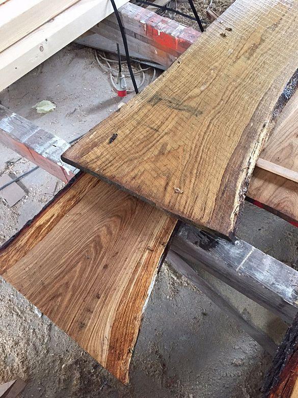Baumscheibe, Waschtisch, Tischplatte, Bartresen, unbesäumt, Handwerk, Eiche120cm kaufen bei Hood.de