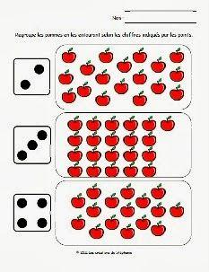 Les créations de Stéphanie: Activités mathématiques pour le préscolaire en lien avec la thématique des pommes
