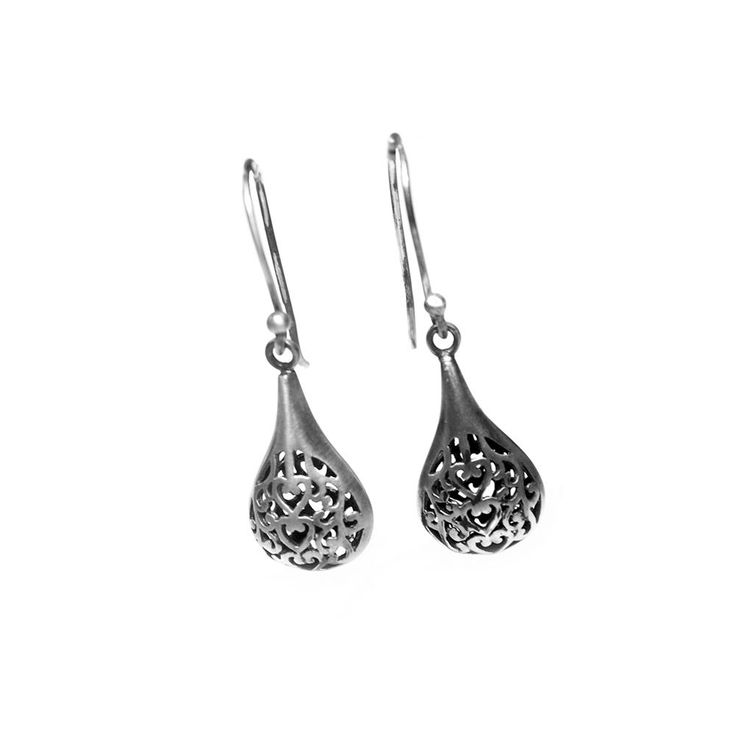 Earrings Boho - antique brushed Sterling Silver