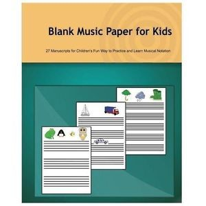 NEW Blank Music Paper for Kids - Bandurina, Tatiana