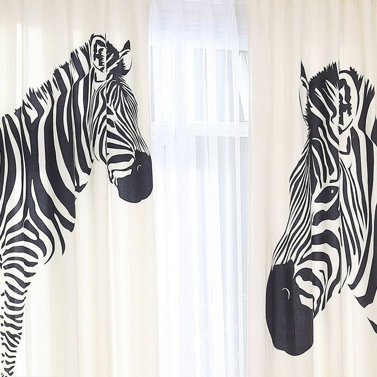 Yoshihara [домой] Корейский Tianyuan Yi домой персонализированный пользовательский закончил черно-белые занавески зебры занавес * Коня на скаку - Taobao